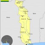 Carte du Togo